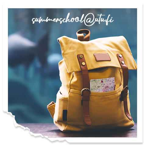 Backpack with text our email address